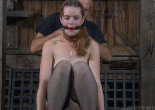 Looker gets say no to nipples licked in advance be incumbent on painful clamping