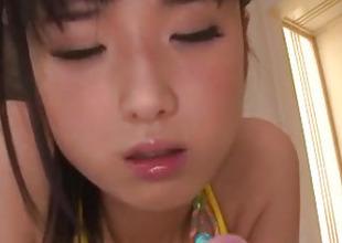 Impressive gewgaw porn with hairy Asian milf, Satomi Ichihara