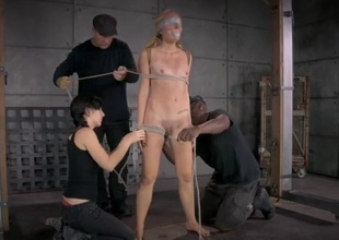 Maladroit and intricate bondage makes her suffer