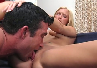 Chesty long haired blondie takes unending monster dick in twat for hot spur