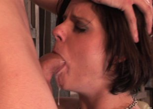 A rough outlook fucking leads to her gagging on his detect