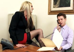 Mart MILF Boss in Glum Stockings Always Gets Her Way!