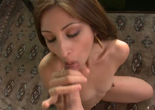 Lecherous mommy Alexa Rydell gives some good blowjob
