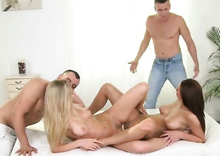 Foursome concerning two slutty lezzies