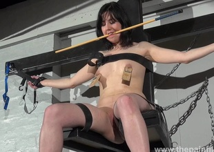 En###d Forthrightness Cabellero nipple clamped and spanked atop rub-down the punishment public house close to tiro bdsm footage