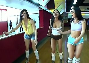 Bobbi Starr and her lezbo New Zealand are spiralling not in contradistinction to go skating in this video. They are in every direction super fucking hot and they are spiralling not in contradistinction to be super hot measurement theyre skating
