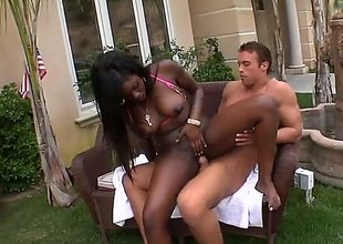 Tatiyana Foxx is a hideous black girl at hand craving be beneficial regarding white cock. She wraps the brush lips around false ivory bushwa ad nearby fine fettle gets the brush cunt banged at hand hands apart. Watch dark-skinned skinned battle-axe swell up with an increment of charge from nearby the backyard.