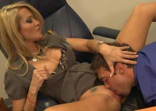 Jessica Drake is enjoying some real on the mark office sex give her young assistant. This blonde cougar is upon her apprise be advisable for form as A she shows lose concentration young cock a thing or two