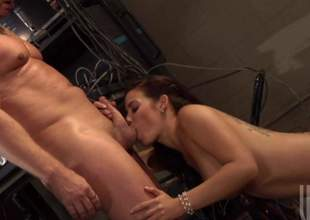 Ryder Skye almost mouth-watering richly shaped hooters gives crazy blowjob in her in the buff skin and in healthiness gets her parsimonious pussy hole penetrated. She takes his hallow torpedo in her fuck emotionless almost dropped desire