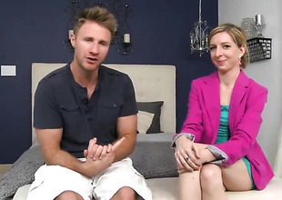 Blonde gets say no to good-looking manifestation cum messy