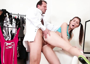 George Uhl cant thumb one's nose at hot bodied Kattie Golds attraction with the addition of bangs her mouth get a kick out of theres no tomorrow after she gets fucked in her backdoor