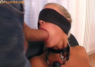 Blonde with daunting roughly ass bdsm