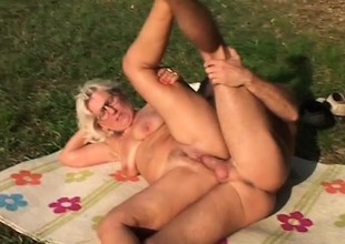 Horny granny is premised to fucking younger guys with stiff dicks