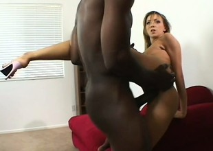 His jumbo gone exposed to brute pounds her pussy increased by annihilates her ass