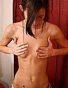 Lovely girl next door Brooke with small tities stripping from Brooke Skye