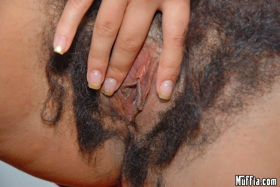 Beautiful Babe With Very Hairy Pussy Perated