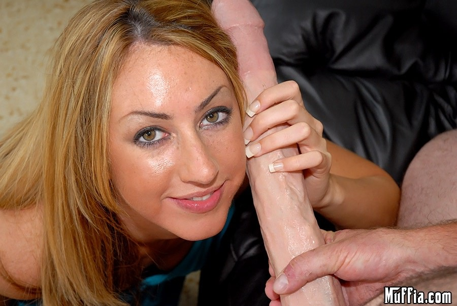 Big tit blonde sucks a mean hard cock 8